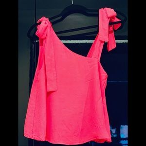 Zara- asymmetrical 🎀 pink top